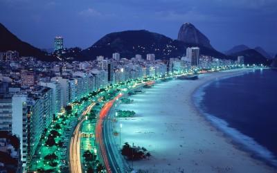 Night-time at Rio.