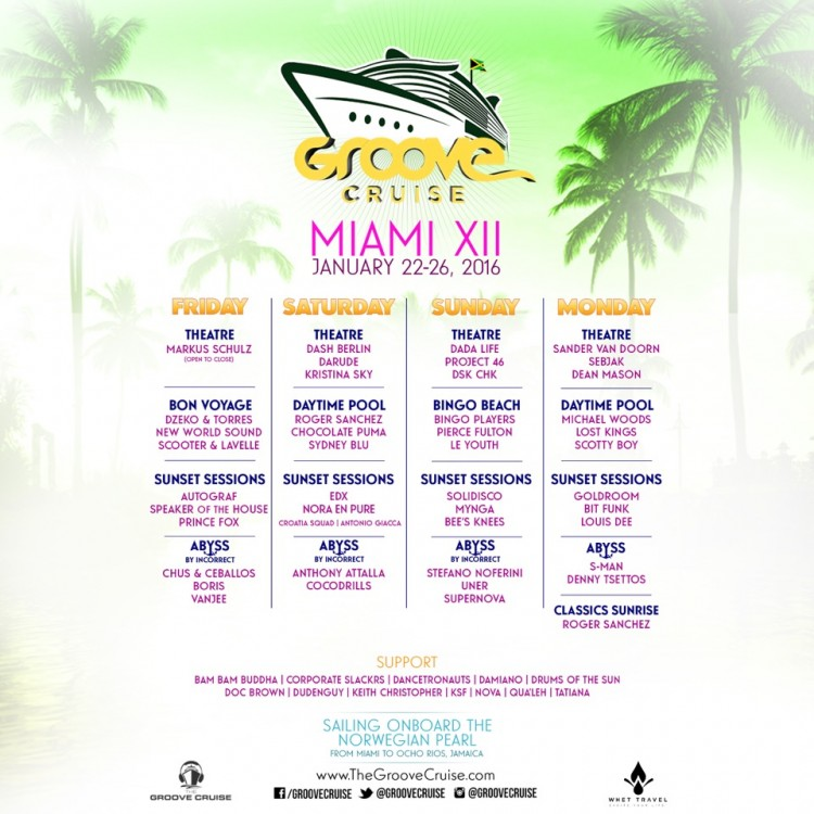 Groove Cruise Miami 2016 Flyer