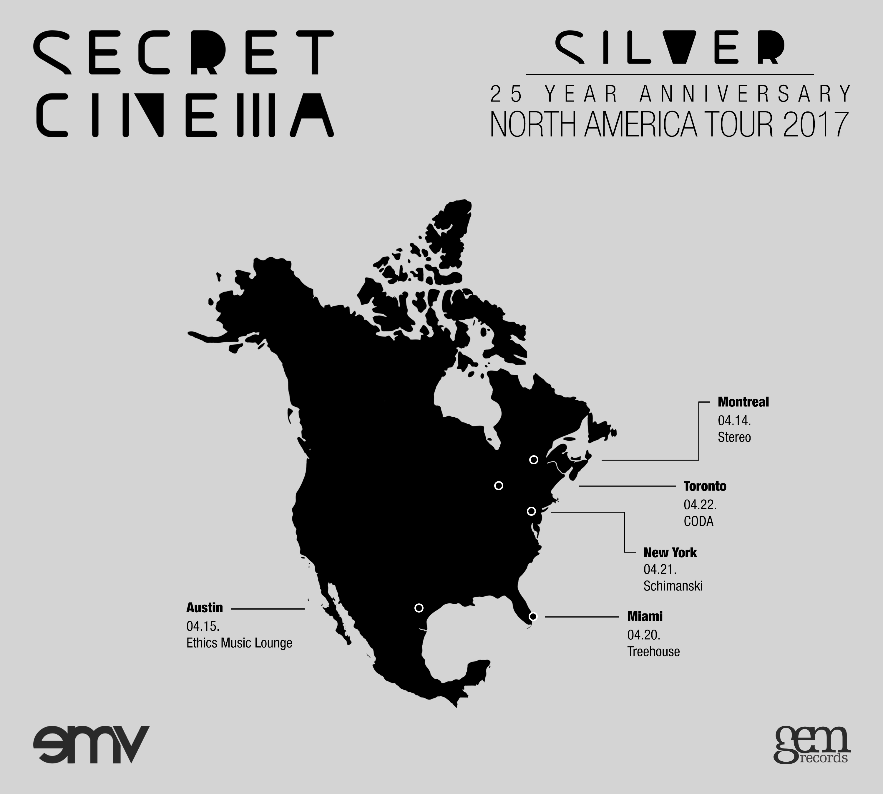 secret cinema NA tour