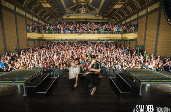 GRiZ and Muzzy Bearr at sold out Good Will Continue Tour stop in Montana. Photo courtesy of Sam Deen Productions.