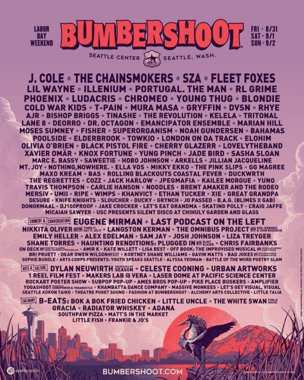 Bumbershoot 2018 Lineup Poster