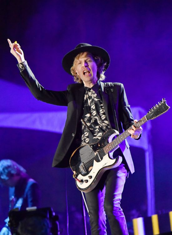 SAN FRANCISCO, CA - AUGUST 10: Beck performs on the Twin Peaks Stage during the 2018 Outside Lands Music And Arts Festival at Golden Gate Park on August 10, 2018 in San Francisco, California. (Photo by Jeff Kravitz/FilmMagic) *** Local Caption *** Beck Hansen