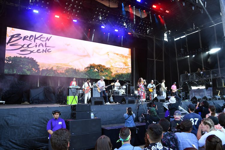 SAN FRANCISCO, CA - AUGUST 11: Broken Social Scene performs on the Lands End Stage during the 2018 Outside Lands Music And Arts Festival at Golden Gate Park on August 11, 2018 in San Francisco, California. (Photo by Jeff Kravitz/FilmMagic) *** Local Caption *** Kevin Drew;Brendan Canning;Jason Collett;Andrew Whiteman;Justin Peroff;James Shaw