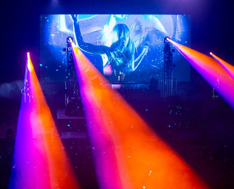 Alison Wonderland performs at the Bill Graham Auditorium in San Francisco on August 25, 2018 (Aaron Nelson).