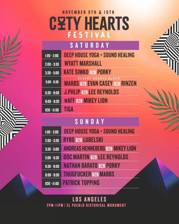 city hearts fest set times flyer